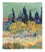 The Garden At Arles, Detail Fleece Blanket