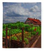 The Garden Gate Fleece Blanket
