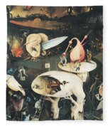 The Garden Of Earthly Delights Hell, Right Wing Of Triptych, C.1500 Oil On Panel See 322, 3425 Fleece Blanket