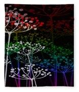 The Garden Of Your Mind Rainbow 3 Fleece Blanket