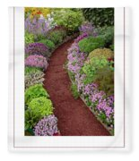 The Garden Poster Fleece Blanket
