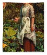 The Gardeners Daughter Fleece Blanket