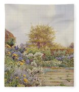 The Gardens At Chequers Court Fleece Blanket