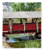 The Gardner Villiage Bridge Fleece Blanket