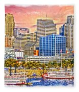 The Garish City Cincinnati Fleece Blanket