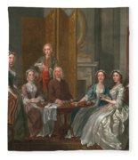 The Gascoigne Family, C.1740 Fleece Blanket