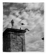 The Gate At Castillo Fleece Blanket