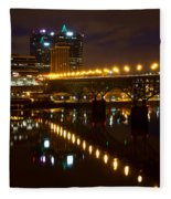 The Gay Street Bridge Fleece Blanket