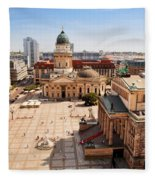 The Gendarmenmarkt And German Cathedral In Berlin Fleece Blanket