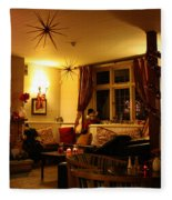 The George Inn Middle Wallop Fleece Blanket