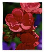 The Geraniums Fleece Blanket