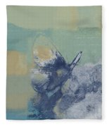 The Giant Butterfly And The Moon - J216094206-c09a Fleece Blanket