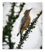 The Gila  Woodpecker Fleece Blanket