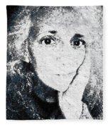 The Gingerbread Girl Fleece Blanket