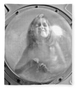The Girl In The Bubble Fleece Blanket