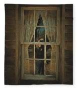 The Girl In The Window  Fleece Blanket