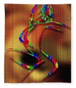 The Girl With Kaleidoscope Lines Fleece Blanket