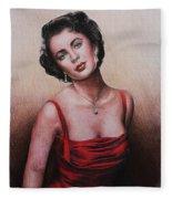 The Glamour Days Elizabeth Taylor Fleece Blanket