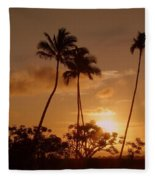 The Glow Of Sunset Fleece Blanket
