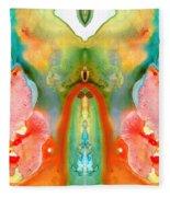 The Goddess - Abstract Art By Sharon Cummings Fleece Blanket