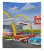 The Golden Age Of The Golden Arches Fleece Blanket
