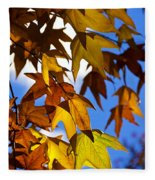 The Golden Hues Of Autumn  Fleece Blanket