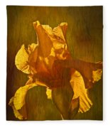 The Golden Iris Fleece Blanket