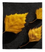 The Golden Leaves Fleece Blanket