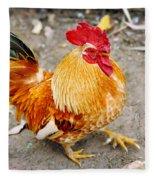 The Golden Rooster Fleece Blanket