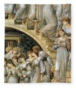 The Golden Stairs Fleece Blanket