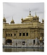The Golden Temple In Amritsar Fleece Blanket