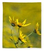 The Golden Wildflowers Fleece Blanket