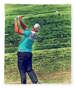 The Golf Swing Fleece Blanket