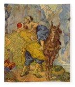 The Good Samaritan - After Delacroix Fleece Blanket