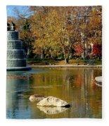 The Goodale Park  Fountain Fleece Blanket