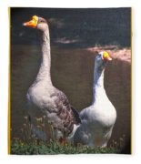 The Goose And The Gander Fleece Blanket