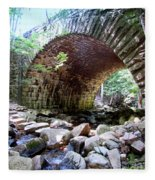 The Gorge Trail Stone Bridge Fleece Blanket