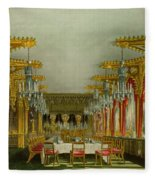 The Gothic Dining Room At Carlton House Fleece Blanket