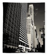 The Grace Building And The Chrysler Building - New York City Fleece Blanket