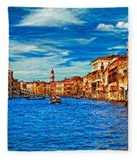 The Grand Canal Impasto Fleece Blanket