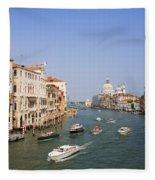 The Grand Canal, Venice Fleece Blanket