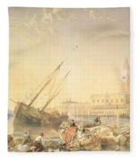 The Grand Canal, Venice Fleece Blanket