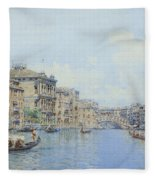The Grand Canal With A View Of Palace Fleece Blanket