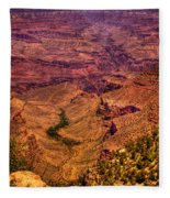 The Grand Canyon From Bright Angel Lodge Fleece Blanket