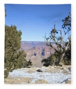 The Grand Canyon In January Fleece Blanket