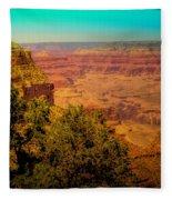 The Grand Canyon Vintage Americana Vii Fleece Blanket