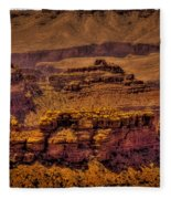 The Grand Canyon Vintage Americana Viii Fleece Blanket