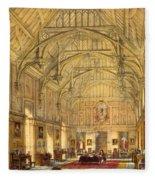 The Grand Hall, Biddington, Surrey Fleece Blanket