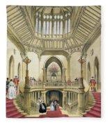 The Grand Staircase, Windsor Castle Fleece Blanket