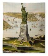 The Great Bartholdi Statue Fleece Blanket